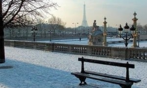 Paris in February - under snow