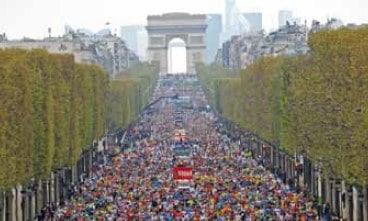 Paris Marathon 2014 start