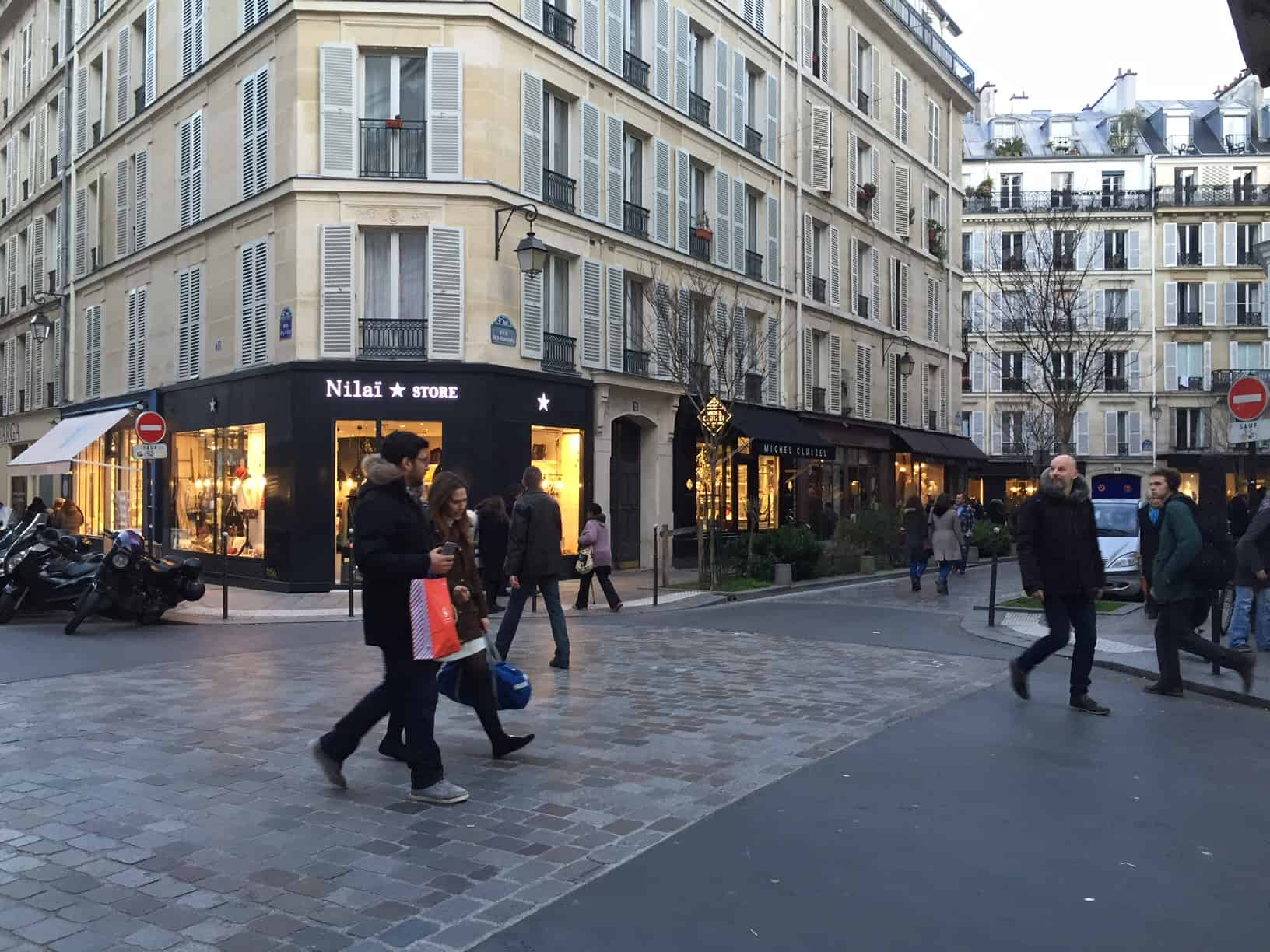 Winkelstraat in Le Marais - Parijs