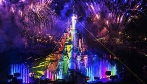 파리 디즈니랜드에서 열리는 크리스마스 쇼