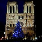 Christmas decorations at Notre Dames de Paris