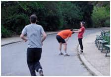 Running in Paris - Chaumont Park