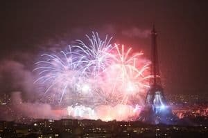 Paris firework for Bastille DAy