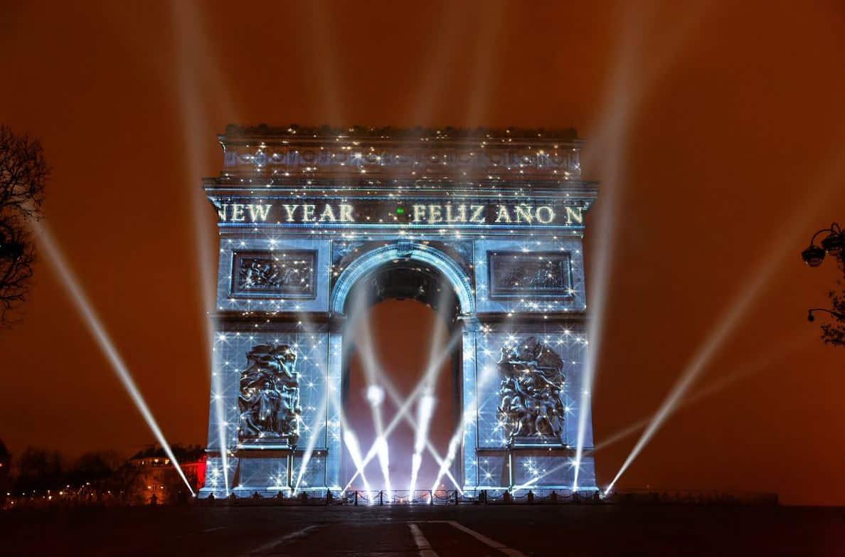 Vieringen bij de Arc de Triomphe
