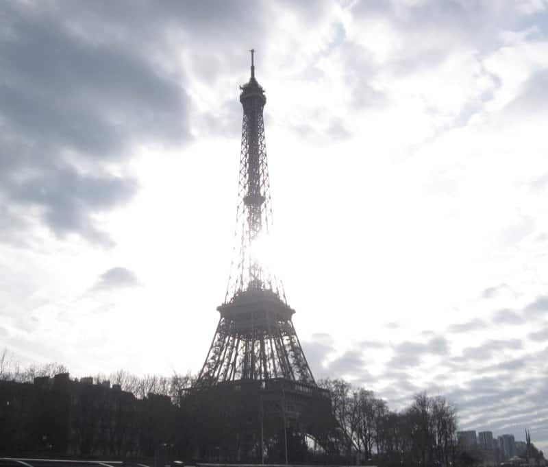 Eiffel Tower seen form a Seine river cruise