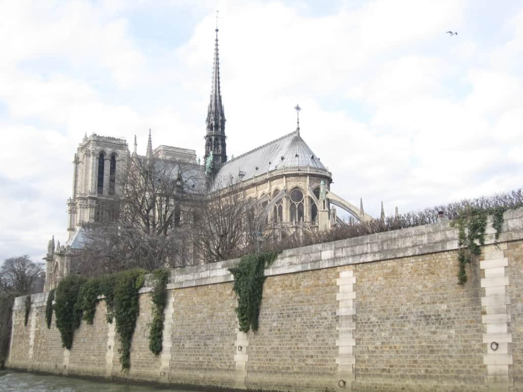 Notre Dame Cathedral in Paris - cité Island