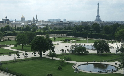 View on Tuileries garden