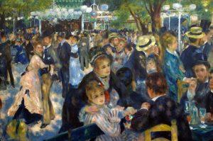 Fiesta en la Moulin de la Galette en Montmartre - Renoir
