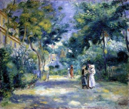 Jardín de Renoir en Montmartre - París