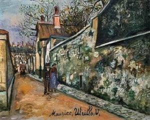 Rue Saint Vincent en Montmartre - Utrillo
