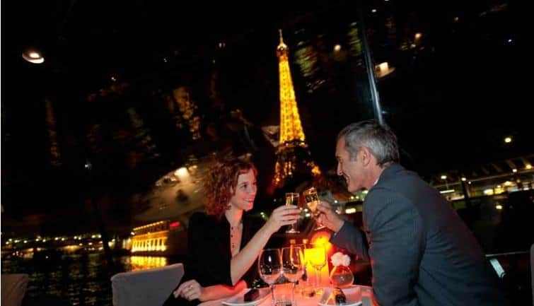 Romantic dinner Cruise in Paris for NYE 2019