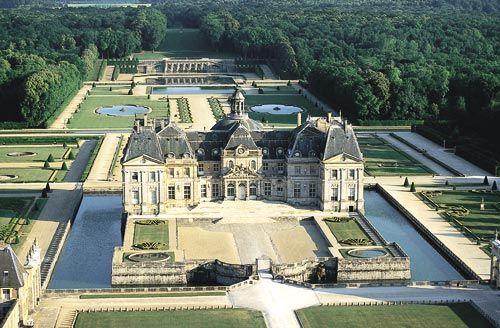 Chateau de Vaux-le-Vicomte visto desde el aire