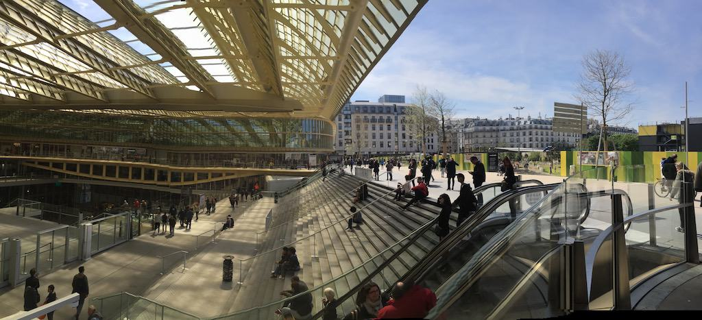 Forum des Halles Mall on Sunday in Paris