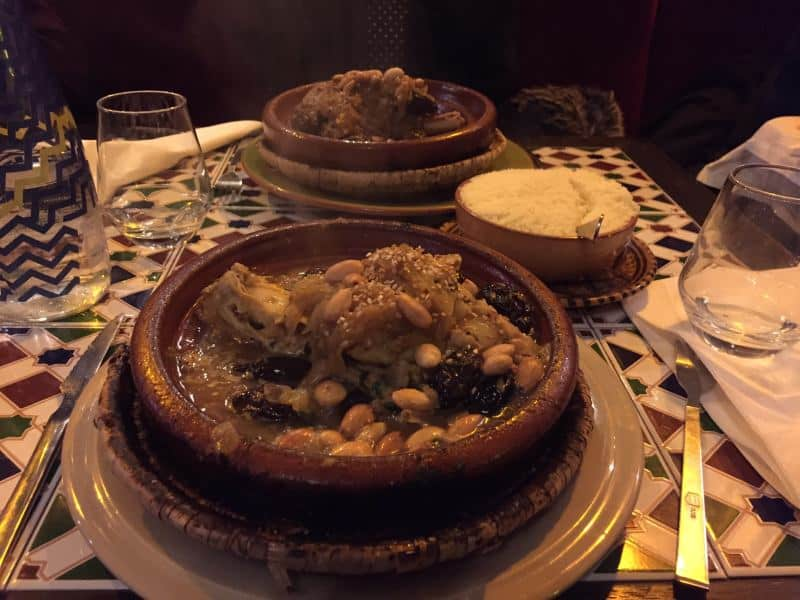 Tajine in a Moroccan restaurant in Paris