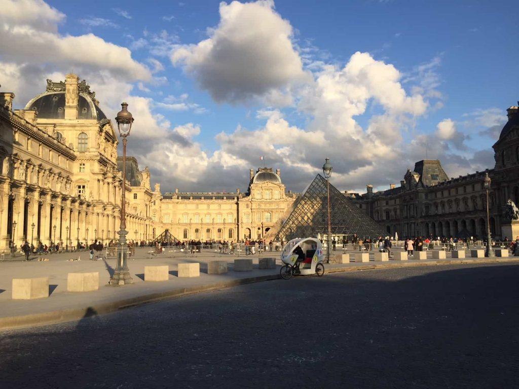 Cloudy sky in Paris in April
