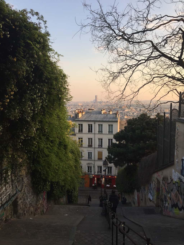 Straßen und Aussichten des Montmartre-Viertels