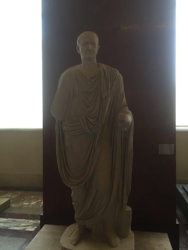 Romeinse beeldhouwkunst in het Louvre museum