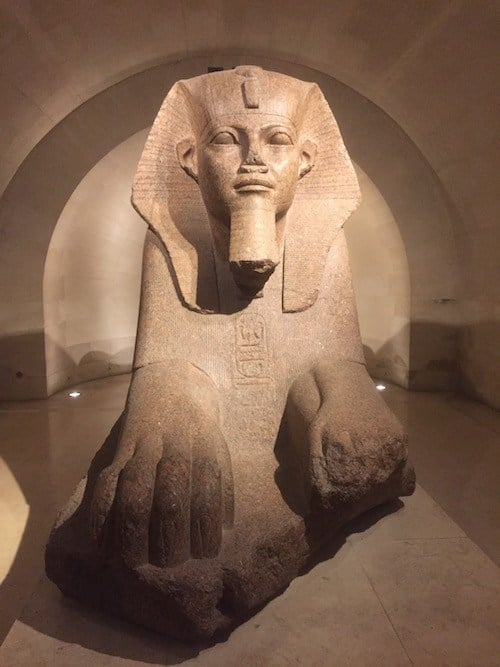 Grand Sphinx of Tanis, part of the Egyptian Collection at the Louvre