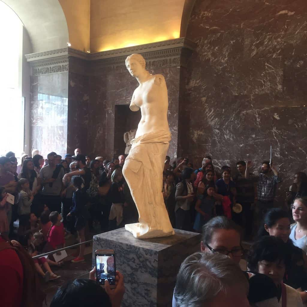 Venus van Milo in het Louvre