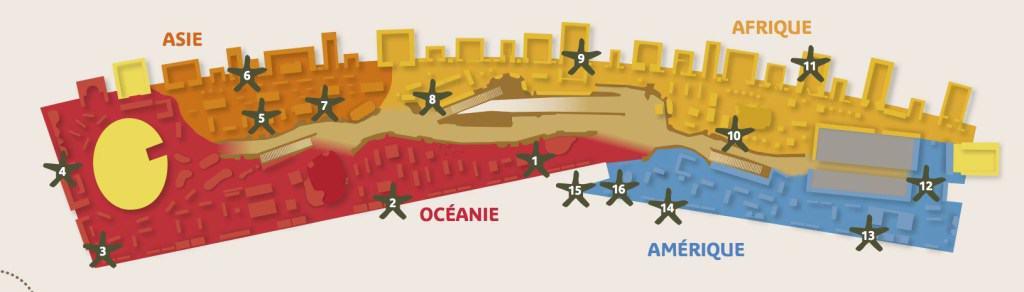 Plano del Museo de Quai Branly