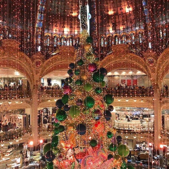 Galeries Lafayette Department Store in Paris